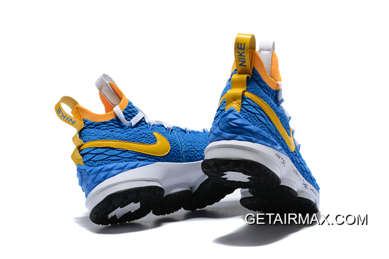 "852a6affeb2e24 Best Nike LeBron 15 ""Waffle Trainer"" Blue Yellow"