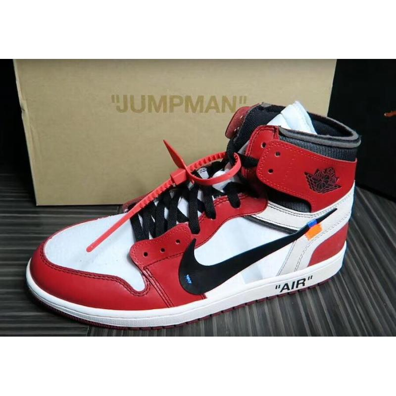new styles 0d828 948a9 OFF-WHITE X Air Jordan 1 Retro High OG 10X White Black-Varsity ...