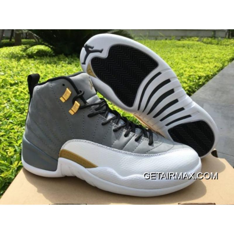 3b6483e567af69 Air Jordan 12 Cool Grey White-Metalic Gold For Sale ...
