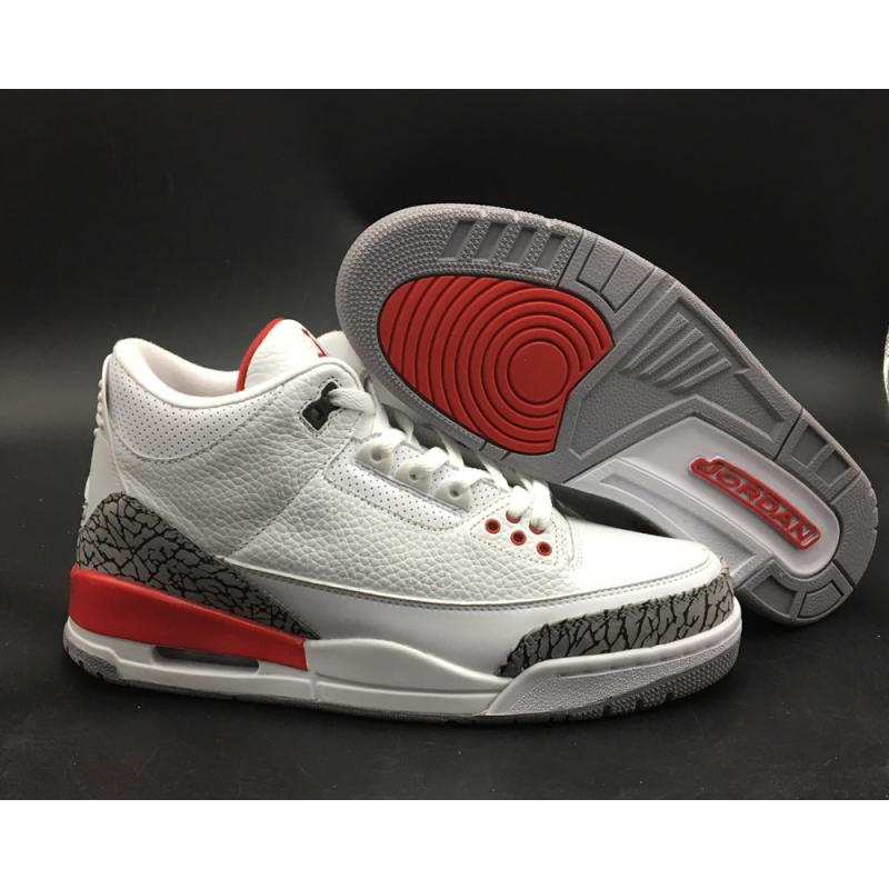 on sale 6ebff 3284d Air Jordan 3  Katrina  White Cement Grey Black-Fire Red Latest ...
