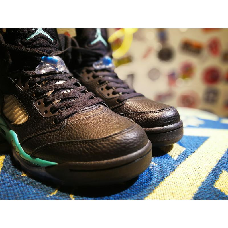 quality design f8fec f069b ... Air Jordan 5 Black And Hyper Jade For Sale