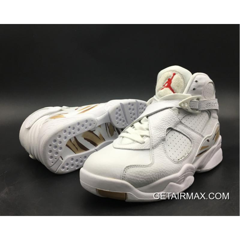 sports shoes ad02c 07ec7 Air Jordan 8  OVO  White Metallic Gold Varsity Red Blur For ...