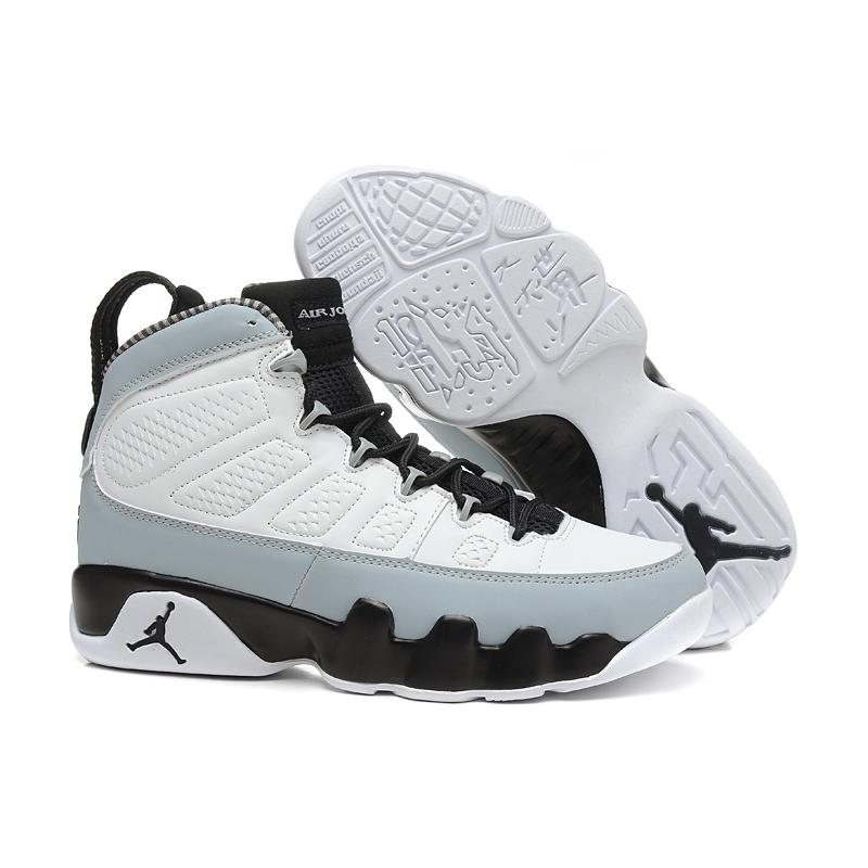 reputable site 4f8f2 578a9 Air Jordan 9 Retro  Barons  White And Black-Natural Grey New Style ...