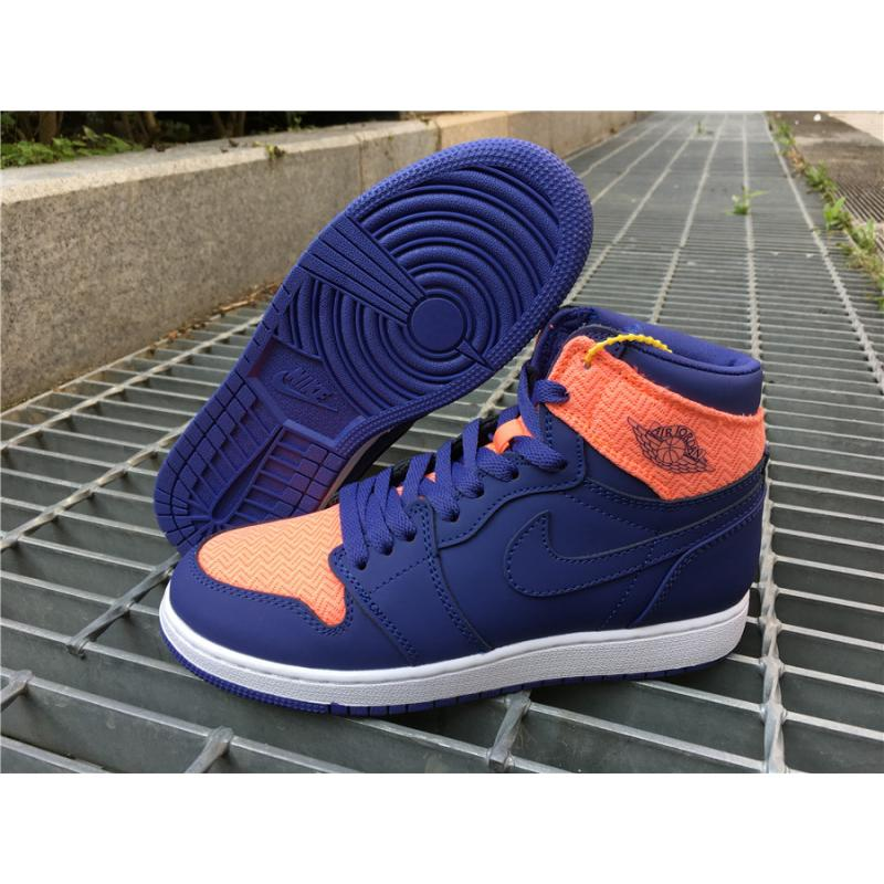 low priced c8e18 43b97 Super Deals Air Jordan 1 High Retro GS Dark Purple Orange ...