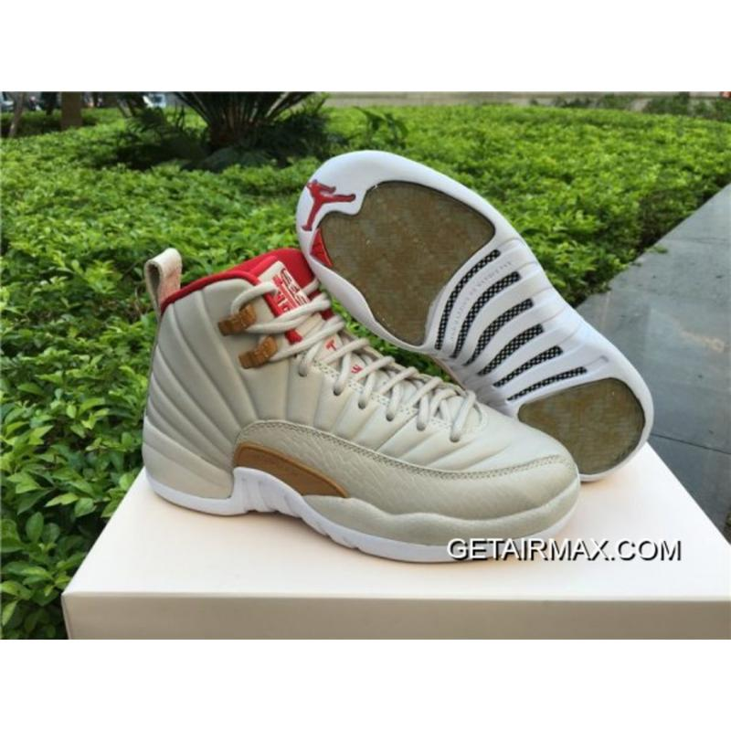 549ec66e45e4 Super Deals Air Jordan 12 GS  CNY  Light Orewood Brown And Varsity Red ...