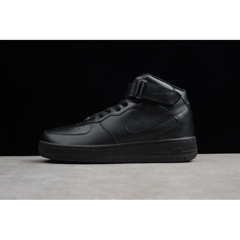e49e6f7132e79 Nike Air Force One Mid 07 Triple Black Free Shipping ...