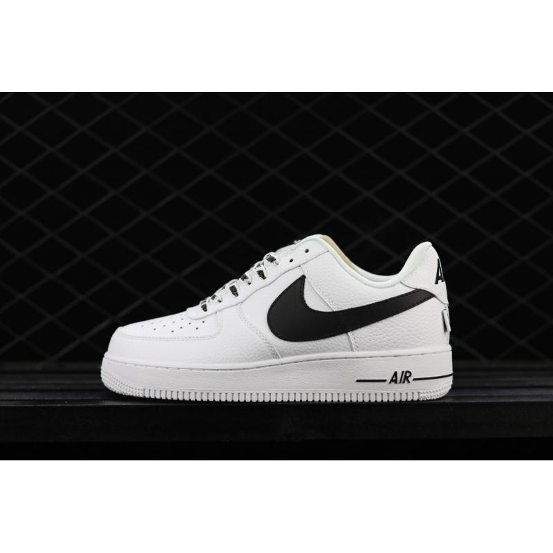 """f6162b609b1 Outlet Nike Air Force 1 Low """"Statement Game"""" White Black ..."""