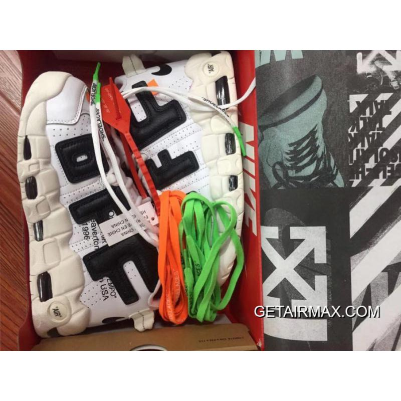 b77953478f OFF-WHITE X Nike Air More Uptempo Black And White New Release, Price ...