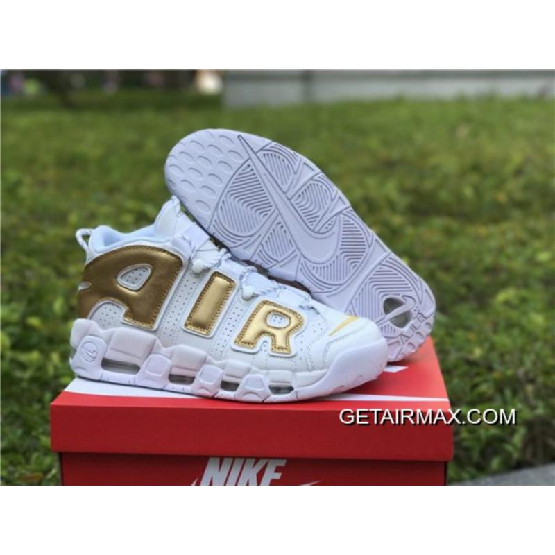 52d15e3b3b0ec New Year Deals Nike Air More Uptempo White And Gold ...