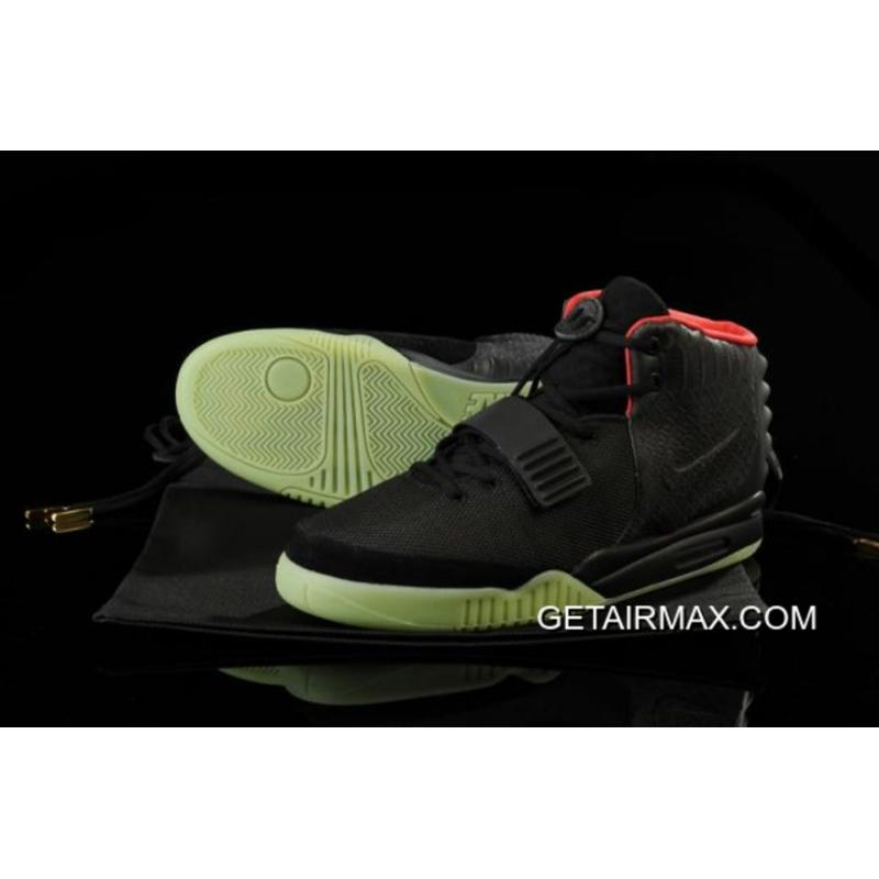 buy online f99cb 0a74b Glow In The Dark Nike Air Yeezy 2  Black Solar Red  Free Shipping ...