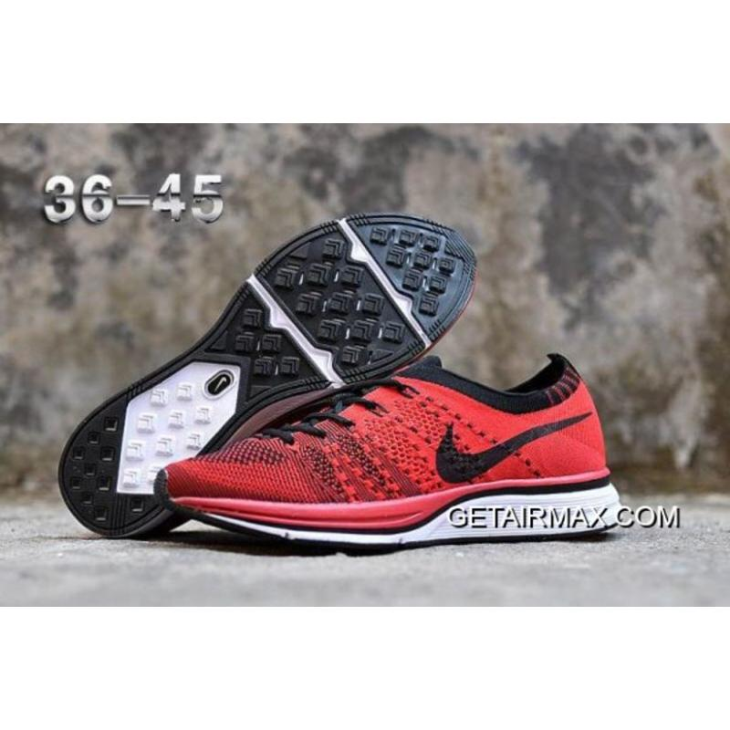 8a368968aff0 Nike Flyknit Racer University Red White-Black New Year Deals ...