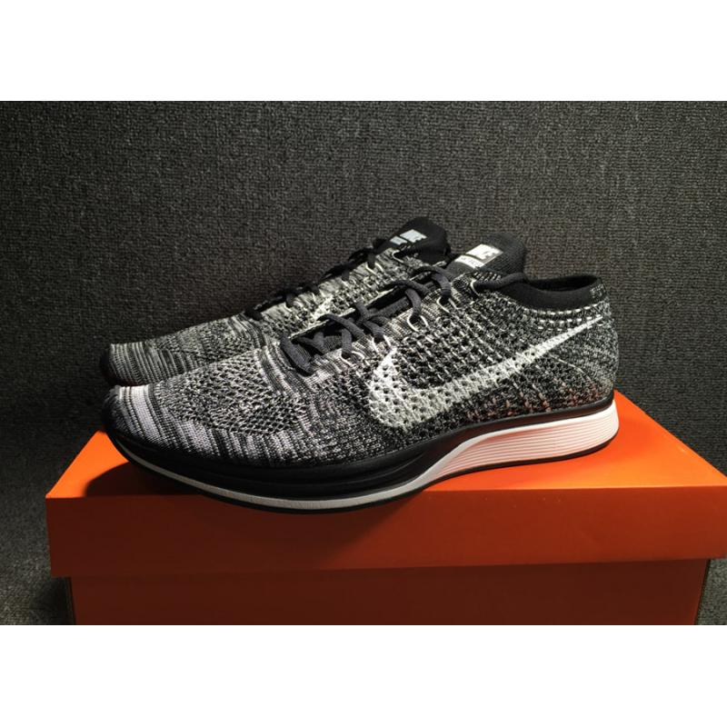 611d35d6932c8 ... Nike Flyknit Racer  Oreo 2.0  Black White New Year Deals ...