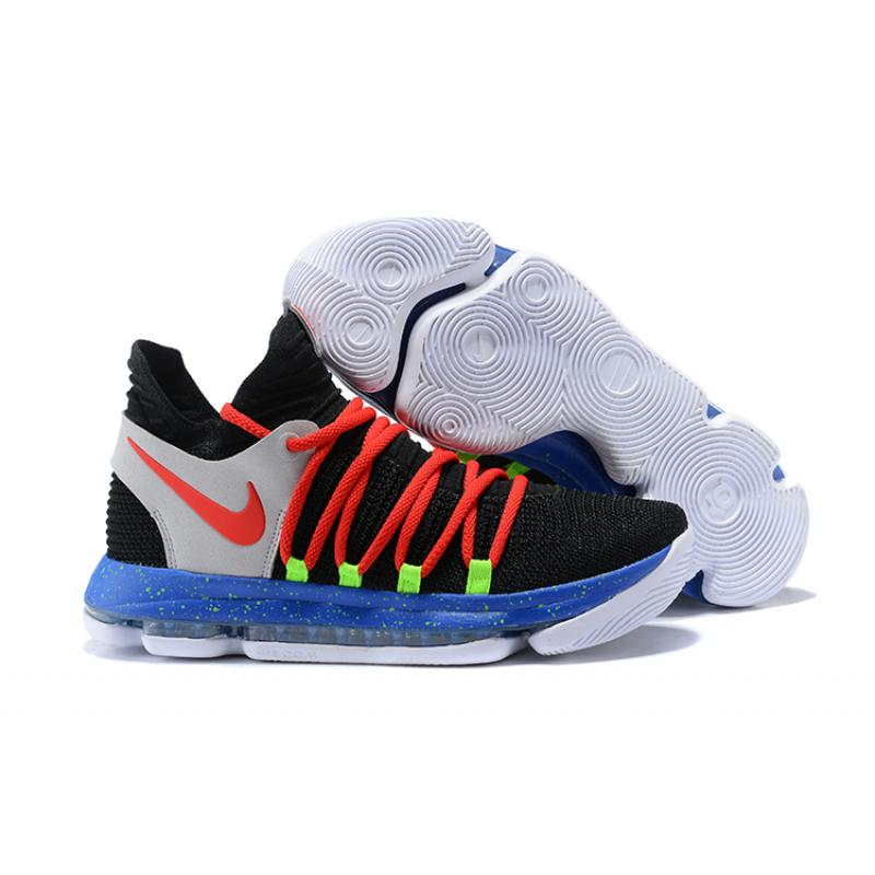 save off 27027 1ea45 For Sale Nike KD 10 Black Red-Cool Grey-Blue ...