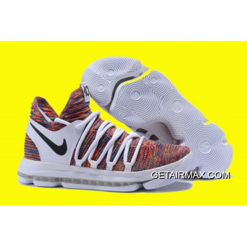 aebf2622c644 Nike KD 10 White And Multi-Color New Release ...