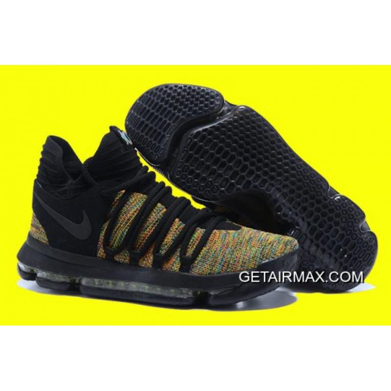 f0d7a70848b4 Nike KD 10 Multicolor Black-Volt Latest ...