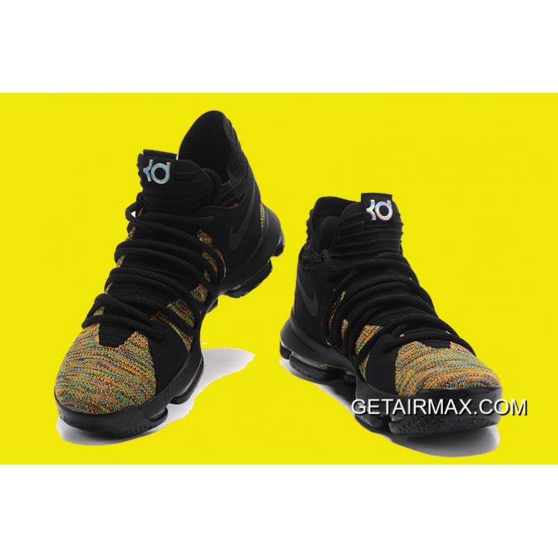 on sale 41225 833a8 ... Nike KD 10 Multicolor Black-Volt Latest ...