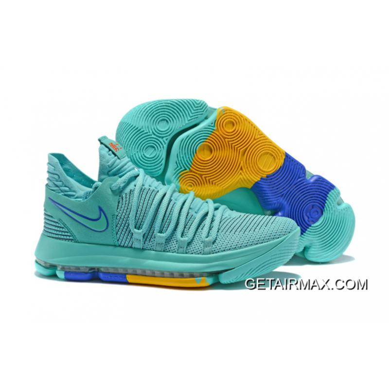 609bd2afff6c Free Shipping Nike KD 10 City Edition Hyper Turquoise ...