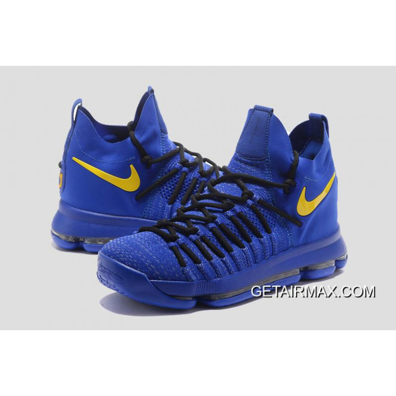 best service f0c27 644b3 ... Nike KD 9 Elite  Golden State Warriors  PE Blue Yellow New Release ...
