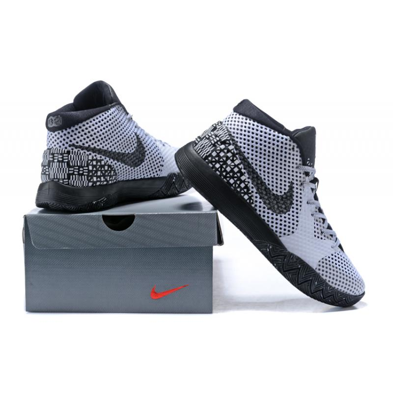los angeles e562a 89a46 ... Nike Kyrie 1 BHM WhiteBlack-Dark Grey Free Shipping