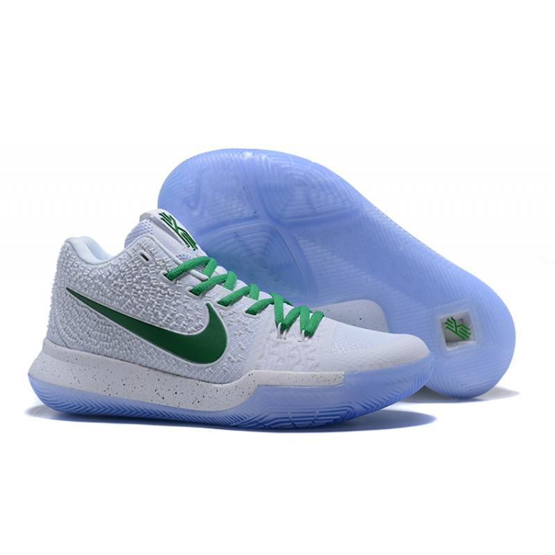 best service 10d3c db156 Nike Kyrie 3 White And Green Best