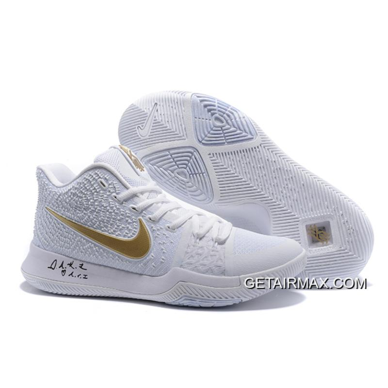 size 40 24df9 04c94 Best Nike Kyrie 3 White Metallic Gold ...