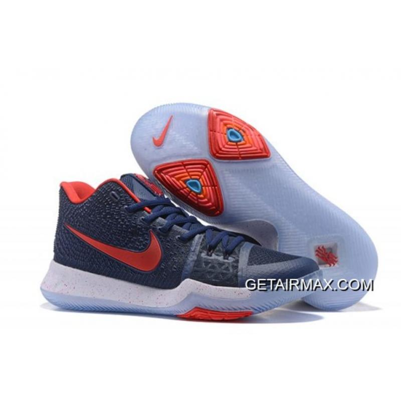 """27fb07351449 Nike Kyrie 3 """"White Toe"""" PE Black Grey – White And Red New Release ..."""
