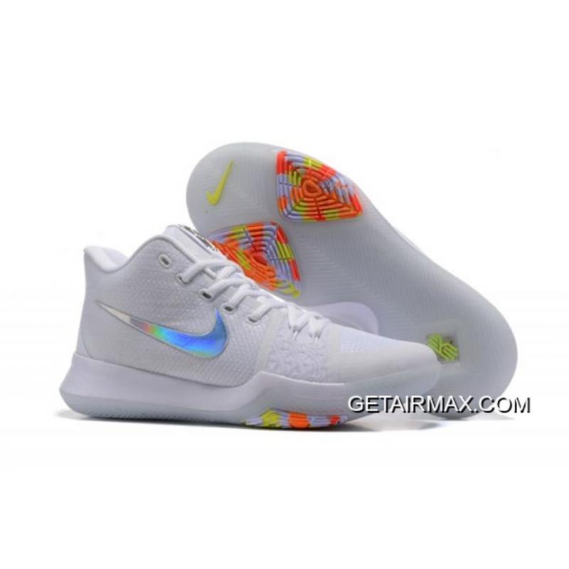 fa432b0a1b72 For Sale Nike Kyrie 3  Time To Shine  Pure Platinum Multicolor-Volt ...