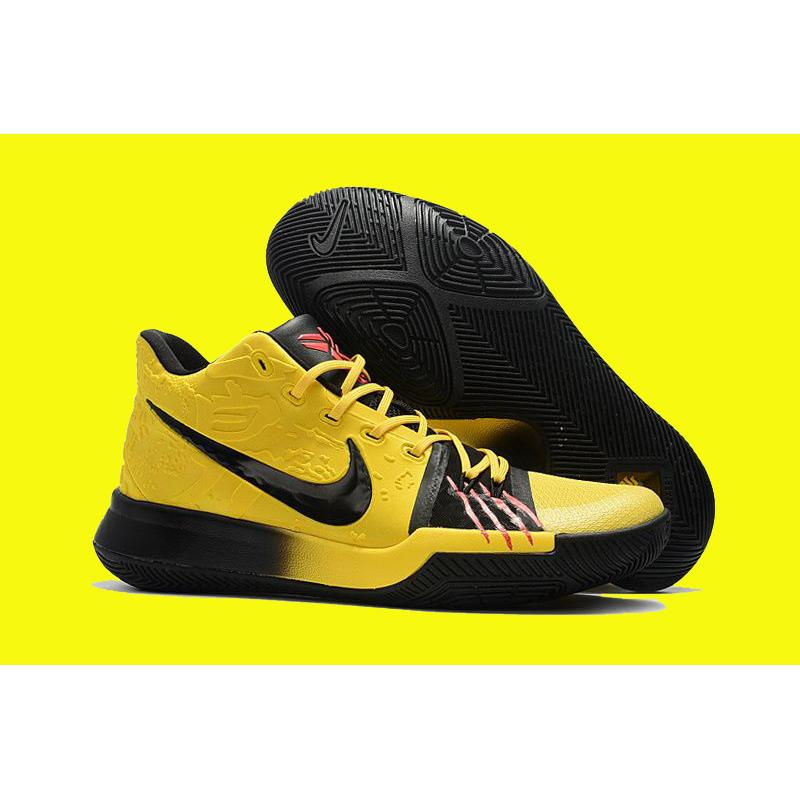 Nike Kyrie 3  Mamba Mentality  Tour Yellow And Black New Release ... c6518f27e307