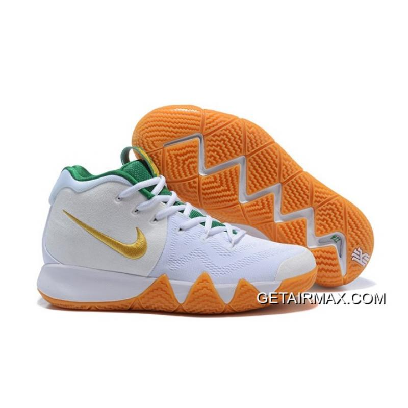 ac2bb2466177b1 Big Discount Nike Kyrie 4 White Metallic Gold-Green ...