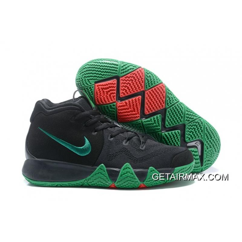 c7ade648713d Latest Nike Kyrie 4 Black Green Red ...