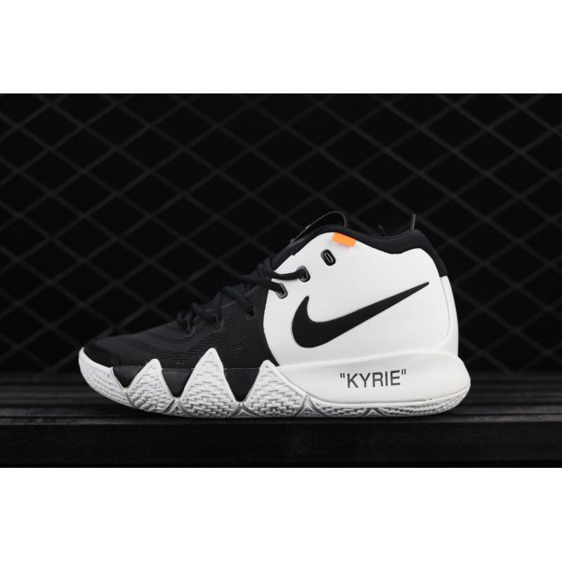 online store 09399 90e9b Off-White X Nike Kyrie 4 Black And White Best