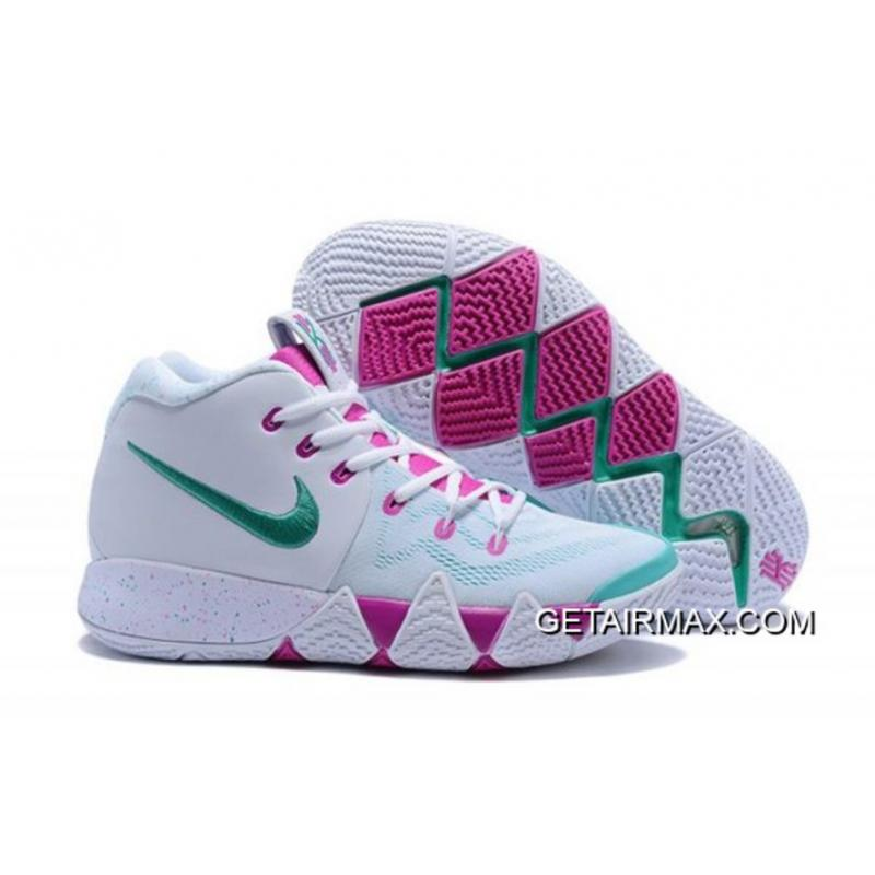 2604bf50f24f New Release Nike Kyrie 4 White And Pink-Mint Green ...