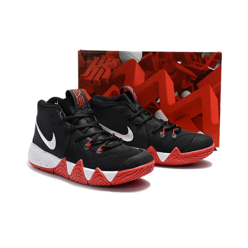 13babf9217d838 ... Nike Kyrie 4 Black Red-White New Year Deals
