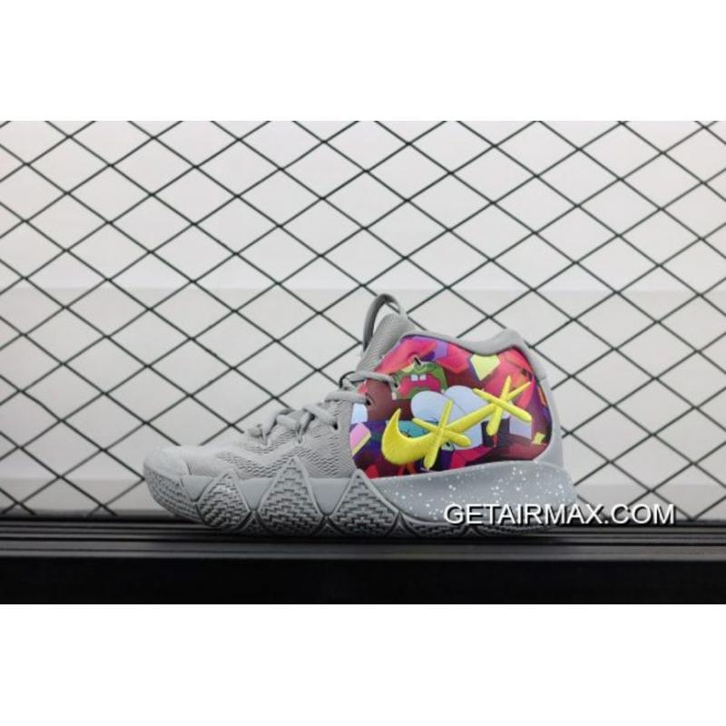 4a0b2802e7d6 New Style Nike Kyrie 4 Cool Grey Multi-Color ...