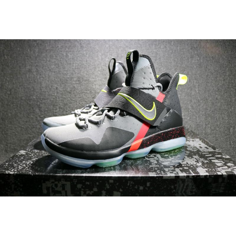 277a2a71929f ... Online Nike LeBron 14  Out Of Nowhere  Wolf Grey  Black – Volt