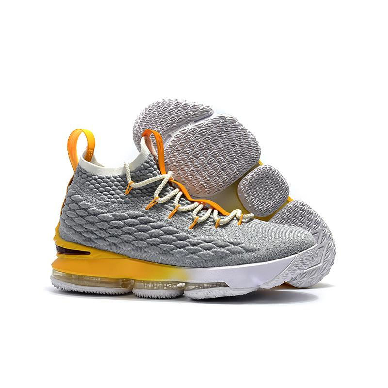 new arrivals 86a73 26fdf Best Nike LeBron 15 PE Cool Grey And Yellow-White ...