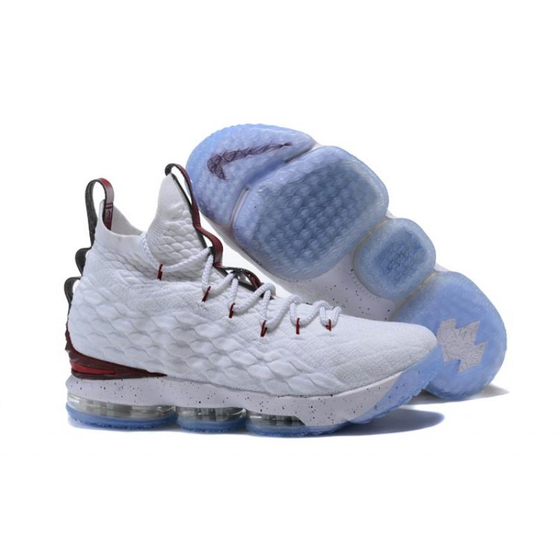 ca75a57818f0 Discount Nike LeBron 15 White And Burgundy ...