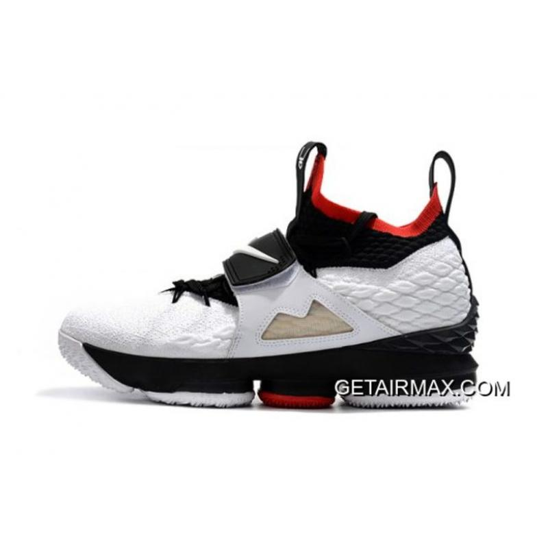 "d021df22184 New Style Men s Nike LeBron 15 ""Diamond Turf"" White Black Red Basketball  Shoes AO9144 ..."