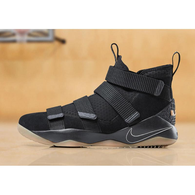 the best attitude 6fb03 acf8f Nike LeBron Soldier 11 Black Gum Latest