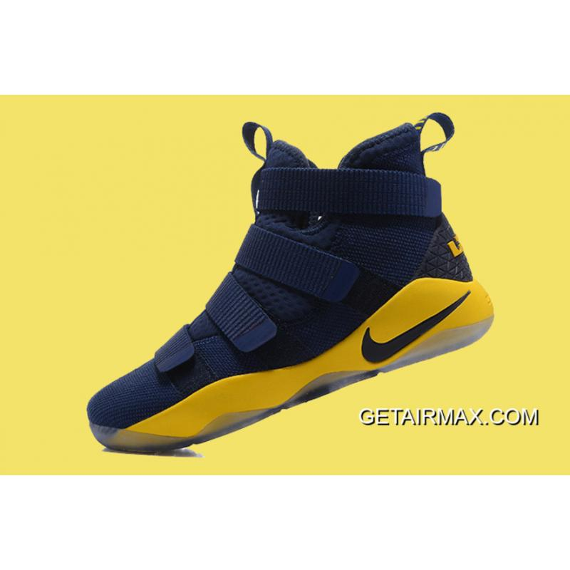 9754d535423 ... Nike LeBron Soldier 11 Deep Blue And Yellow Super Deals ...