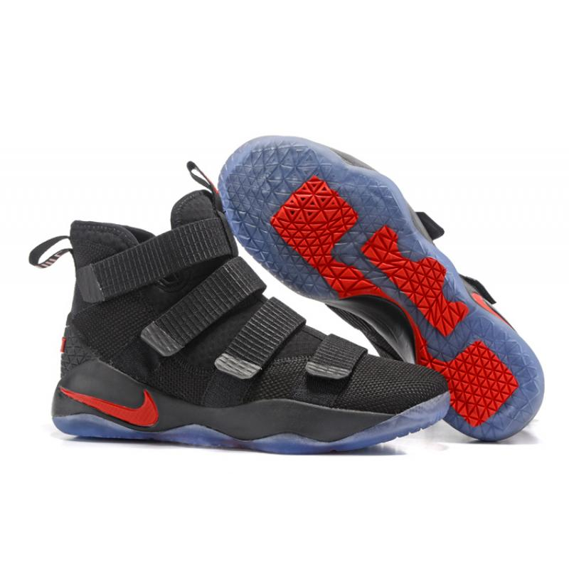 4a213c372a5a Nike LeBron Soldier 11 Black And Red Super Deals ...