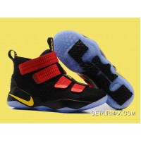 bcf8cd39c5e Nike LeBron Soldier 11 Black And Red Gold Top Deals