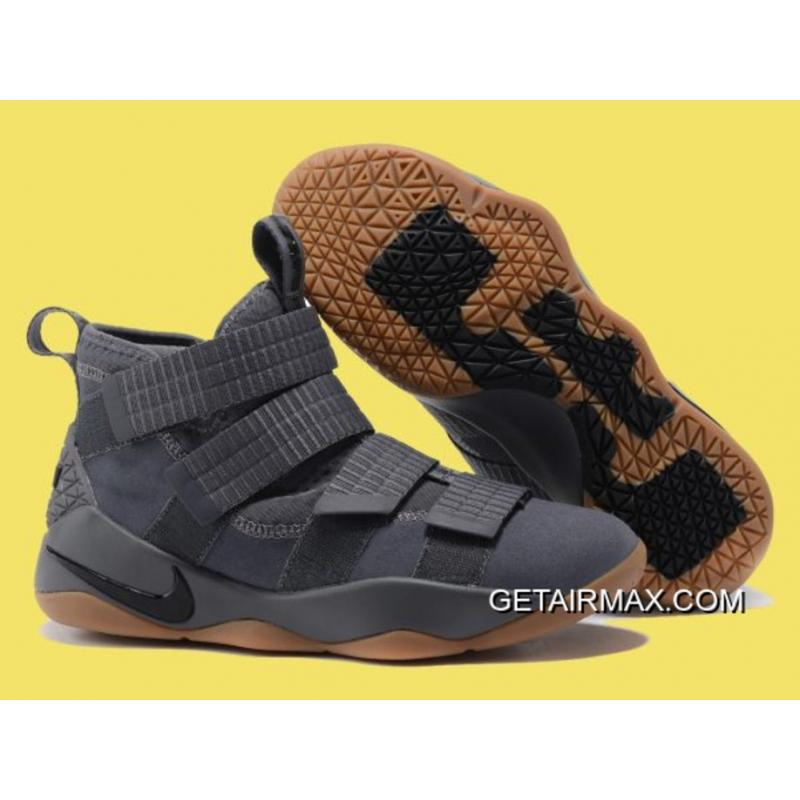 9f0f557e22f6 For Sale Nike LeBron Soldier 11 Grey And Gum-Black ...