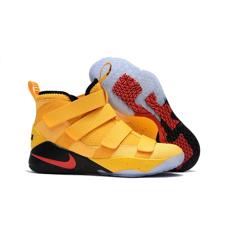 hot sale online 5e647 83a7e Super Deals Nike LeBron Soldier 11 PE Yellow Black And Red