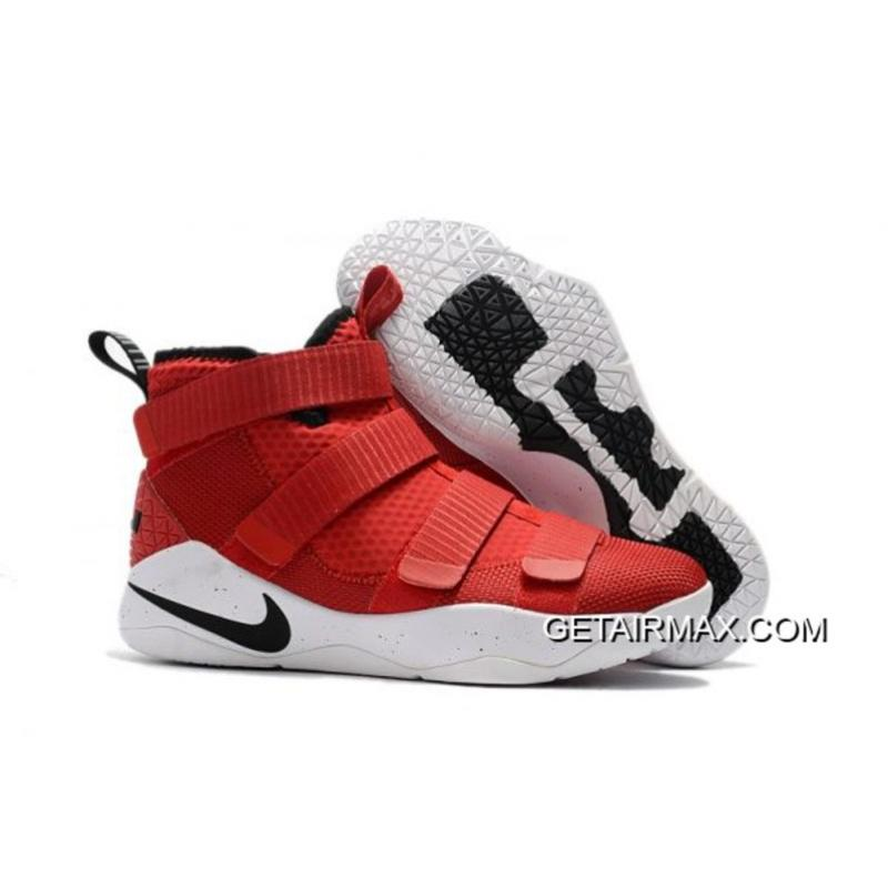 64a9d4d0d9bc Copuon Nike LeBron Soldier 11 University Red Black-White-Total Crimson ...