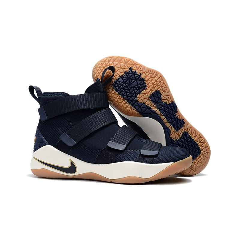2fe96d660e8 New Year Deals Nike LeBron Soldier 11  Cavs  Midnight Navy Metallic Gold ...