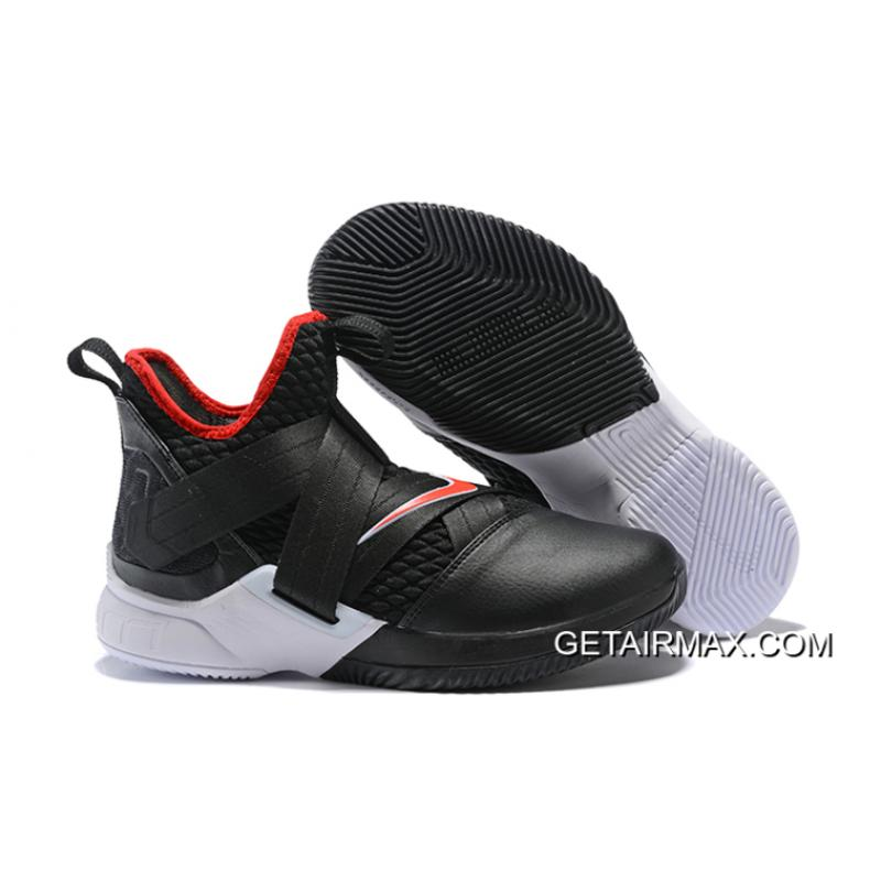 8d5bc388d39 Nike LeBron Soldier 12  Bred  Black University Red-White New Year Deals ...