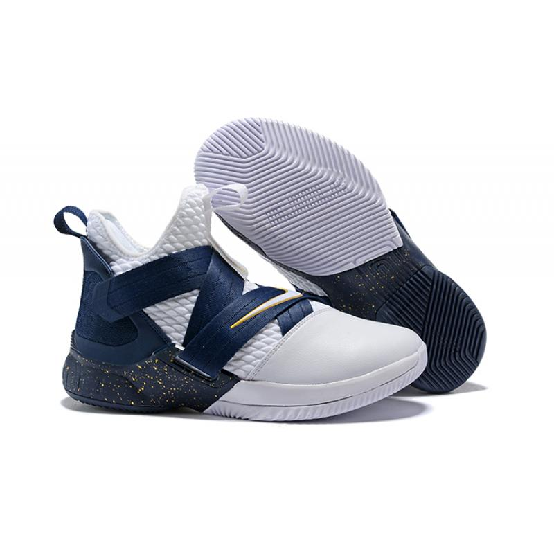 half off 11597 671f1 Top Deals Nike LeBron Soldier 12 White Midnight Navy-Mineral Yellow ...