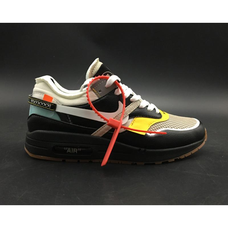 info for 3d661 e58d2 Virgil Abloh X BespokeIND X Off-White X Nike Air Max 1s Black Leather New  ...