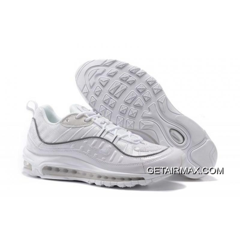 Supreme X Nike Air Max 98 All White New Release ... 7c0fa785c